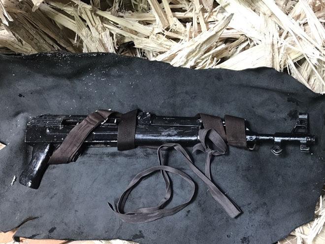 Khẩu súng AK cơ quan Công An đang giữ