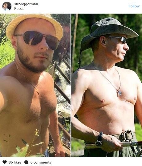 Họ còn ghép ảnh của mình với Putin