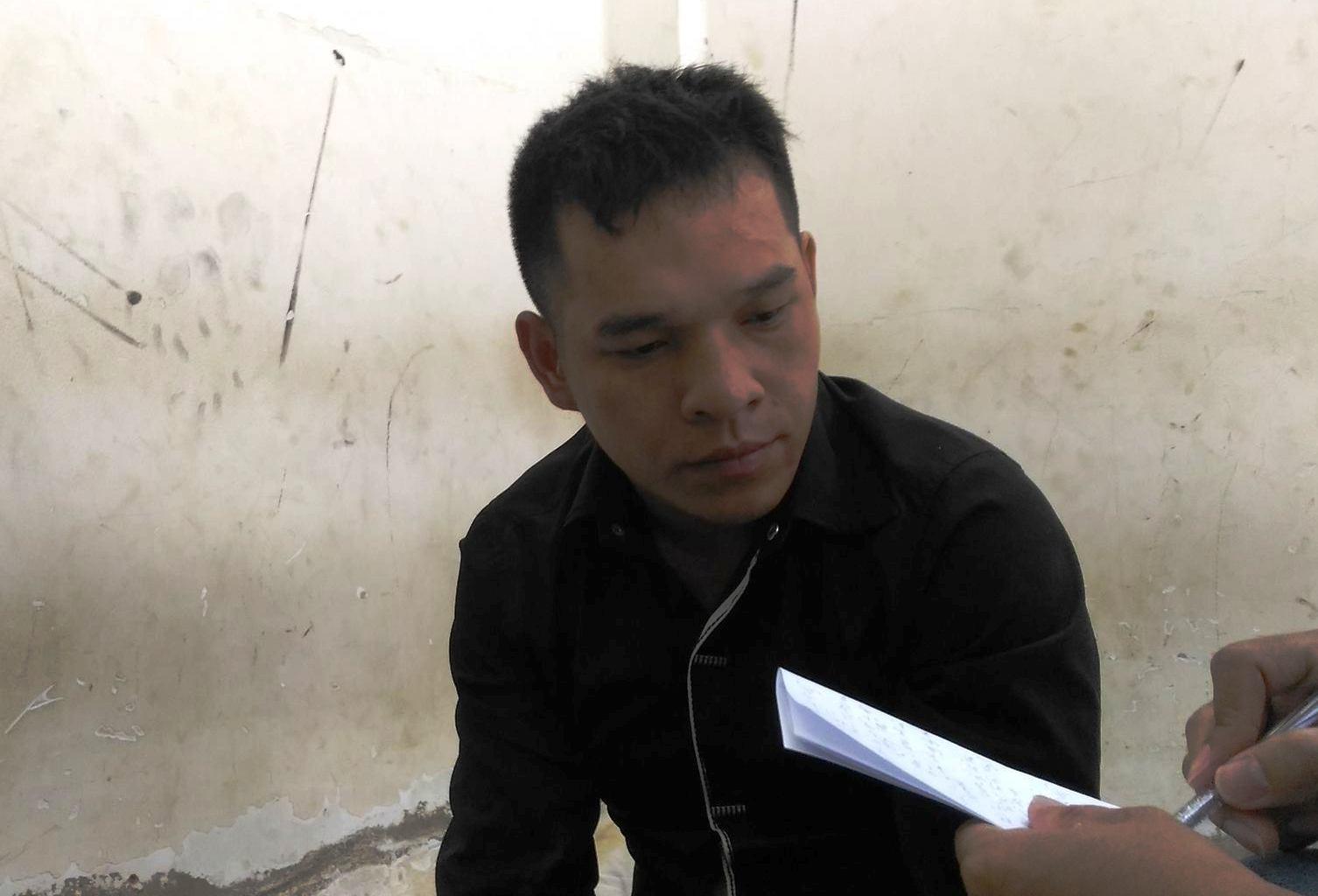 Đối tượng Tuyền tại cơ quan điều tra
