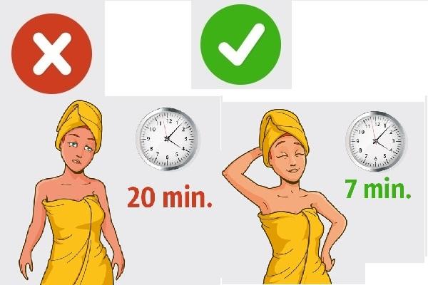 ảnh hưởng đối với sức khỏe nếu tắm lâu