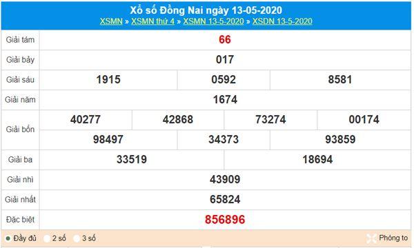 Soi cầu KQXS Đồng Nai 20/5/2020, chốt lô giải đặc biệt