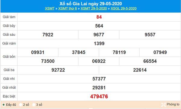 Dự đoán XSGL 5/6/2020 chốt KQXS Gia Lai thứ 6