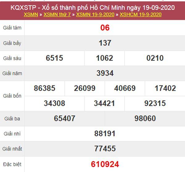 Soi cầu KQXS Hồ Chí Minh 21/9/2020 thứ 2 cùng cao thủ