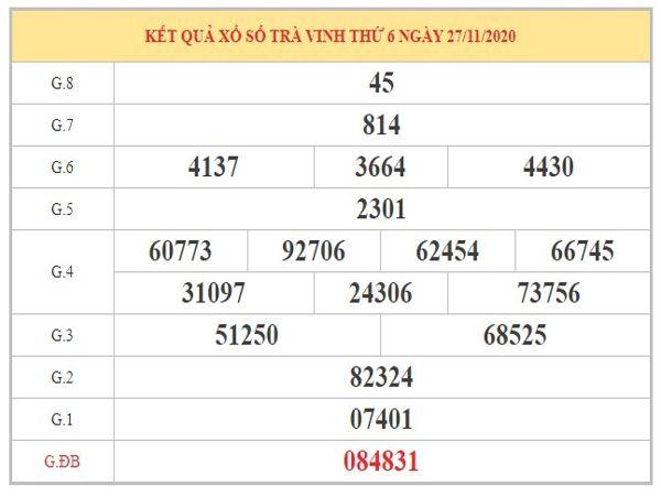 Nhận định KQXSTV ngày 4/12/2020 chốt lô số đẹp xổ số Trà Vinh